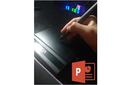 Cara Menggambar (Corat-Coret) Di Power Point Menggunakan Pen Tablet