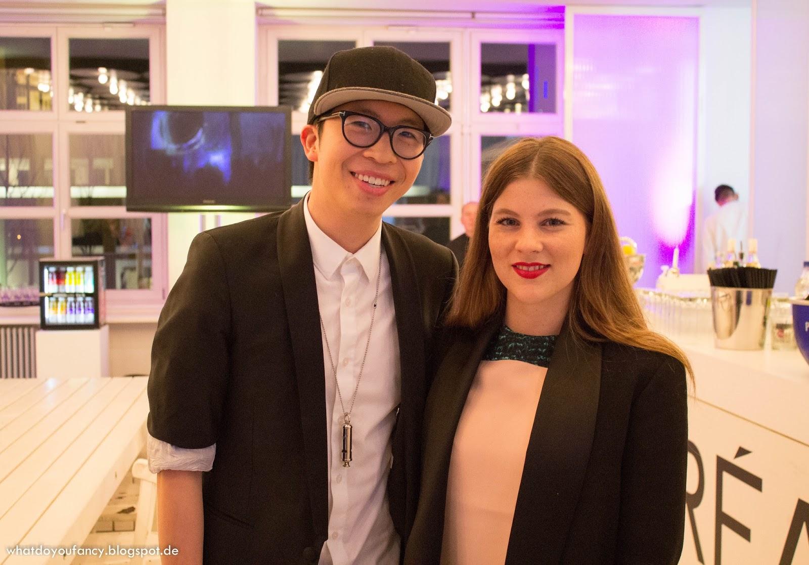 L'Oréal lud zum Launch der neuen Studio Line #TXT-Produkte + App #TXTMYSTYLE ein_Shootingfläche_Justin Wu und Jessica Weiß