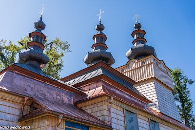 Cerkiew św. Michała Archanioła - zbliżenie wież
