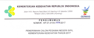 Penerimaan CPNS Terbaru Kementerian Kesehatan