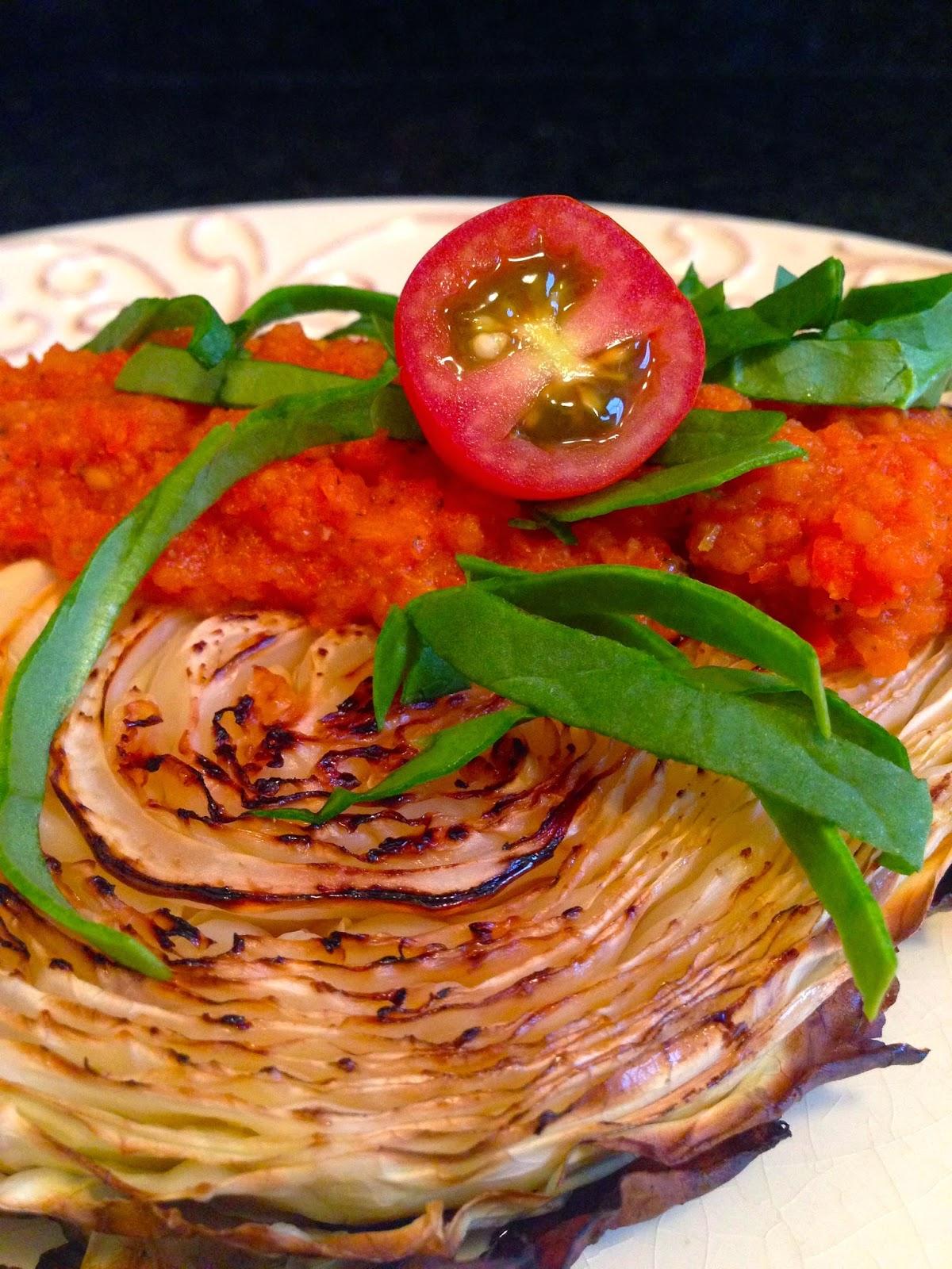 Oven Roasted Cabbage Steak recipe by BeautyBeyondBones. #glutenfree #vegan #paleo #specificcarbohydratediet #vegetarian