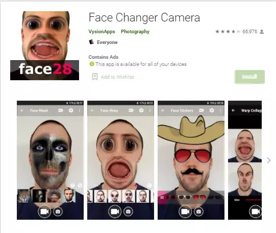 face changer camera app