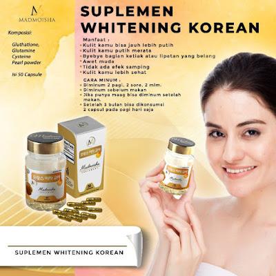 Korean Whitening Kapsul Gold Madmoiselle Madmoisha Ori