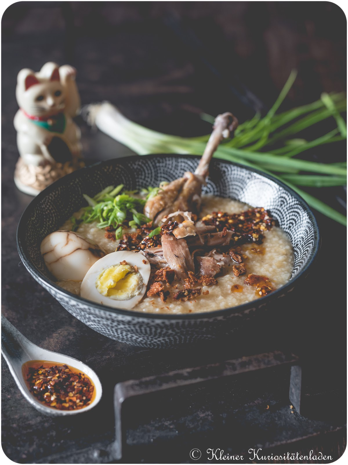 Chicken Congee | Jook | 粥 | Chinesisches Reis-Porridge