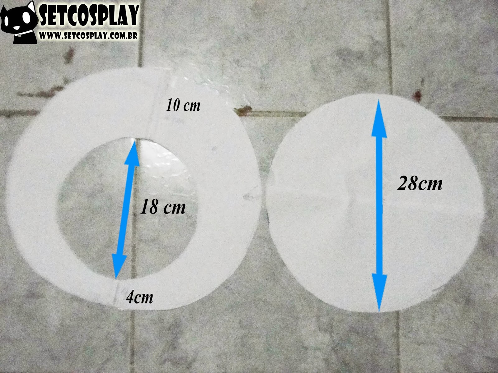 46323e9c1ee1d SetCosplay   TUTORIAL  Boina (Cap) do Luigi Mario + Roupa Cosplay