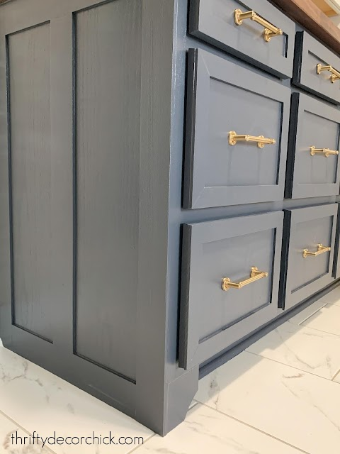adding custom trim to end of basic cabinets