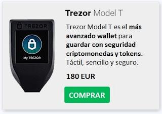 Comprar TREZOR Model T Con Mejor Precio Guardar Criptomonedas