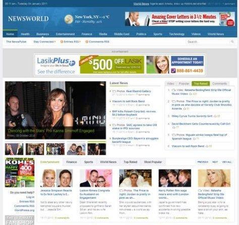newsworld theme maskolis