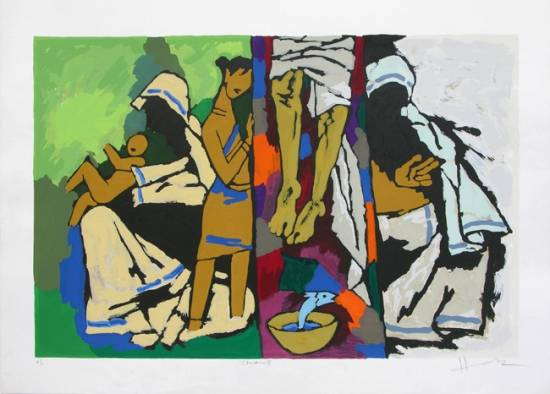 Theorama - Christianity by M. F. Husain - Limited Edition Print (www.indiaart.com)