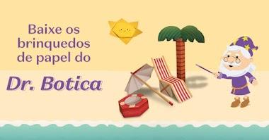 O Boticário disponibilizou brinquedos de papel grátis do Dr. Botica para montar