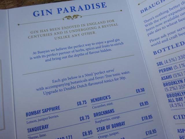 Gin Paradise at Banyan Manchester