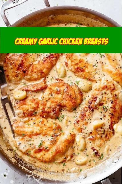 #Creamy #Garlic #Chicken #Breasts
