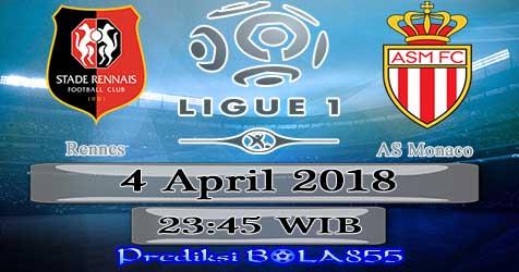 Prediksi Bola855 Rennes vs AS Monaco 4 April 2018