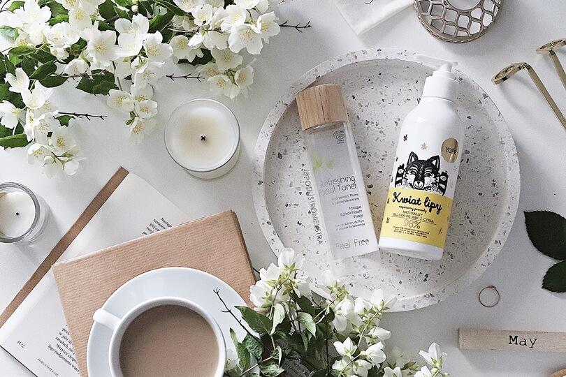 kosmetyki naturalne tonik feel free i balsam do ciała yope