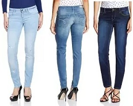 Women's Top Brand Jeans – Min 50% upto 70% Off @ Amazon