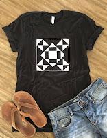 quilt block t-shirt