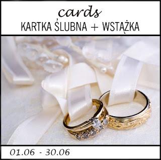 CARDS - kartka ślubna z wstążką