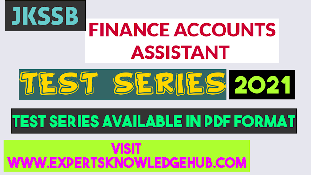 Jkssb finance accounts assistant test series 2021