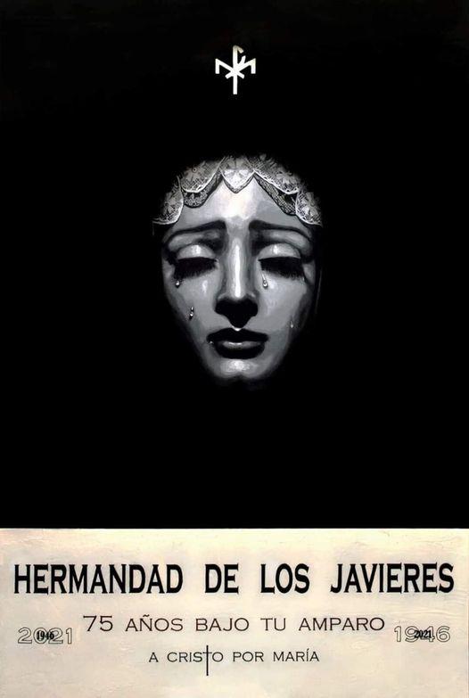 Cartel del 75 aniversario de la Virgen de Gracia y Amparo Hermandad de Los Javieres de Sevilla