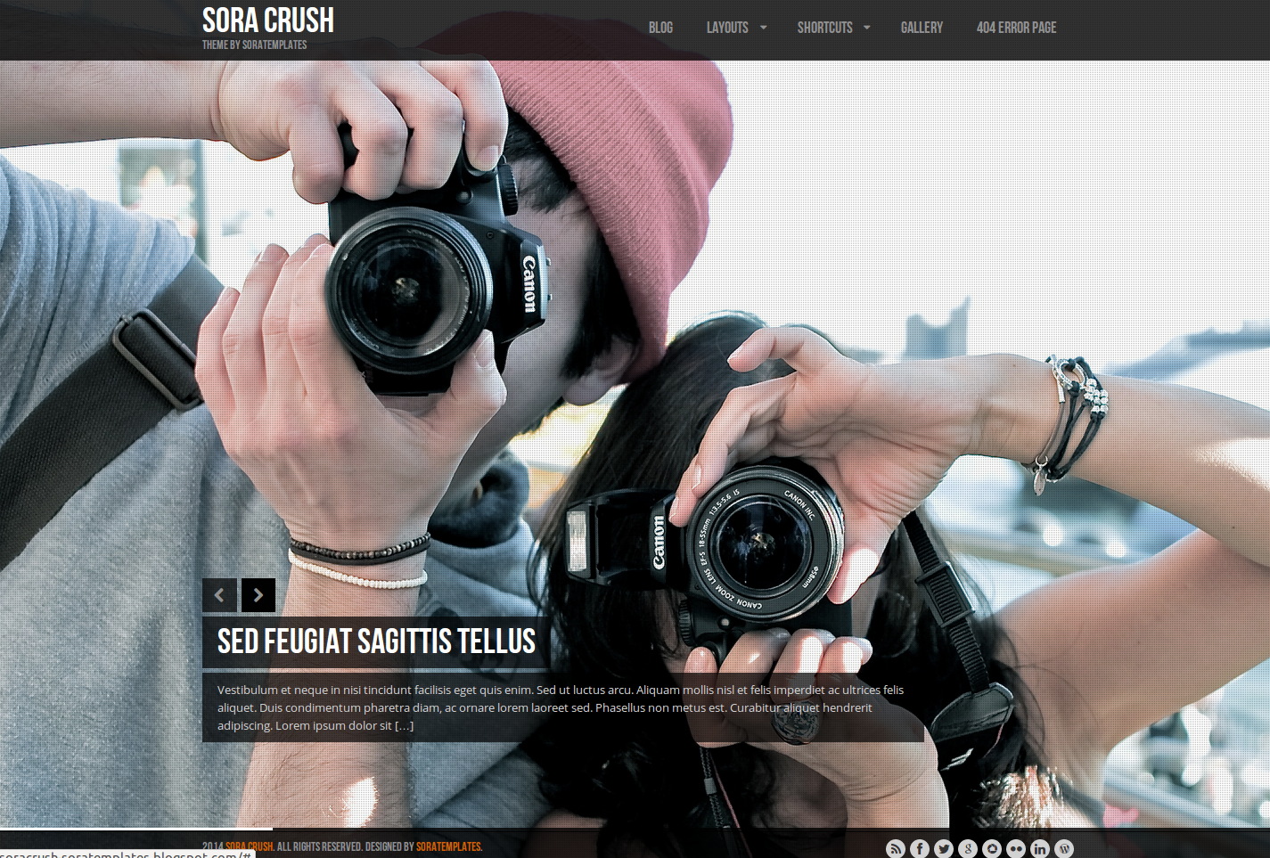 Sora Crush Blogger Template