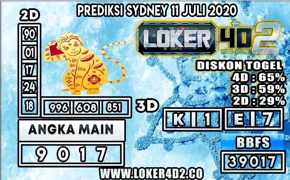 PREDIKSI TOGEL SYDNEY LOKER4D 11 JULI 2020