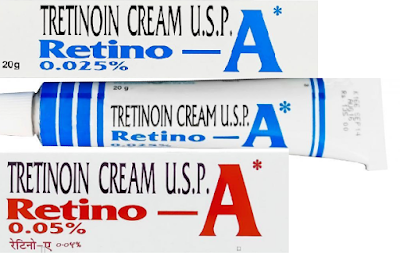 Tretinoin cream such as Retino-A 0.025% or 0.05% contains a type of vitamin A