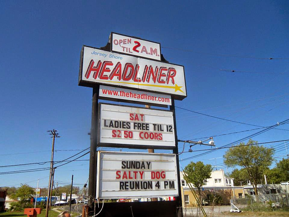 The Headliner marquee down the Jersey shore in Neptune, New Jersey