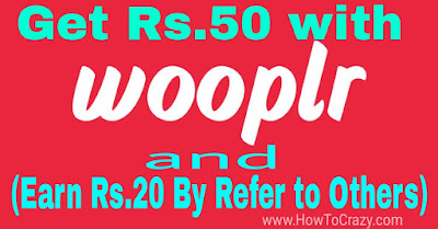 Wooplr app offer by HowToCrazy