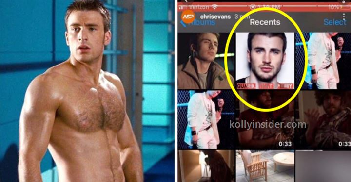 Chris Evans accidentally shared his penis picture
