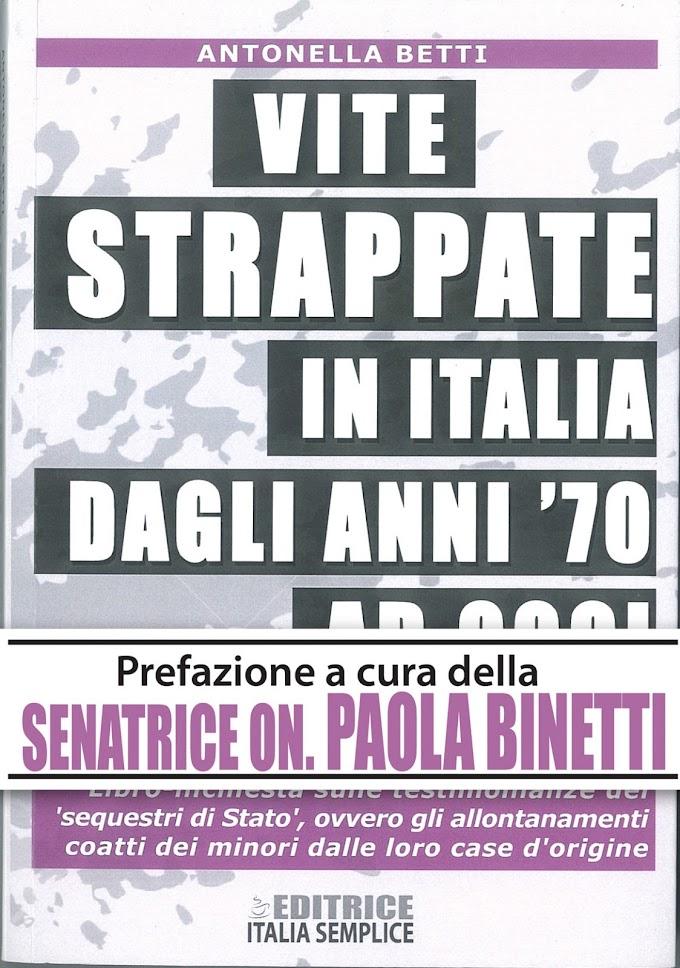 Antonella Betti pubblica il nuovo libro 'Vite strappate in Italia dagli anni 70 ad oggi'