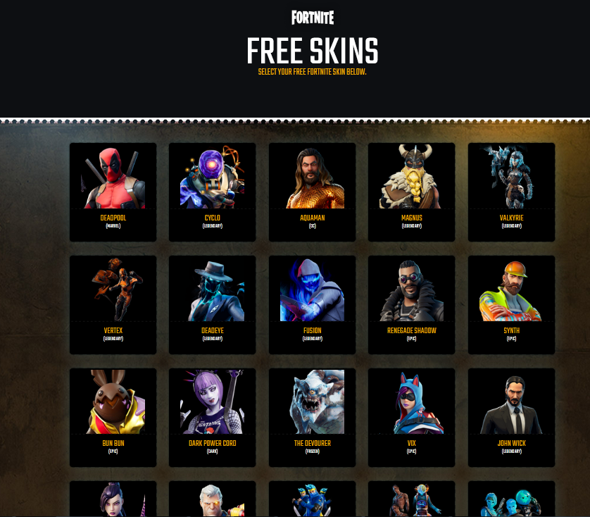 Fortgag.com | Free Skins Fortnite From Fortgag .com