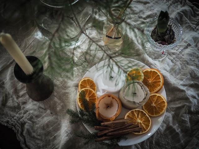 kuivatut appelsiini koristeet