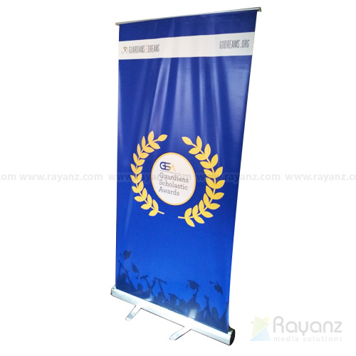 Roll up stand with normal flex printing sample