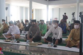 Kapolda hadiri Peringatan israa mi'raj Nabi Muhamamad SAW tahun 1442  H/2021 M  Tingkat Provinsi Kepri