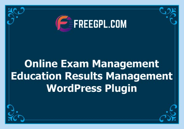 Online Exam Management - Education & Results Management Free Download