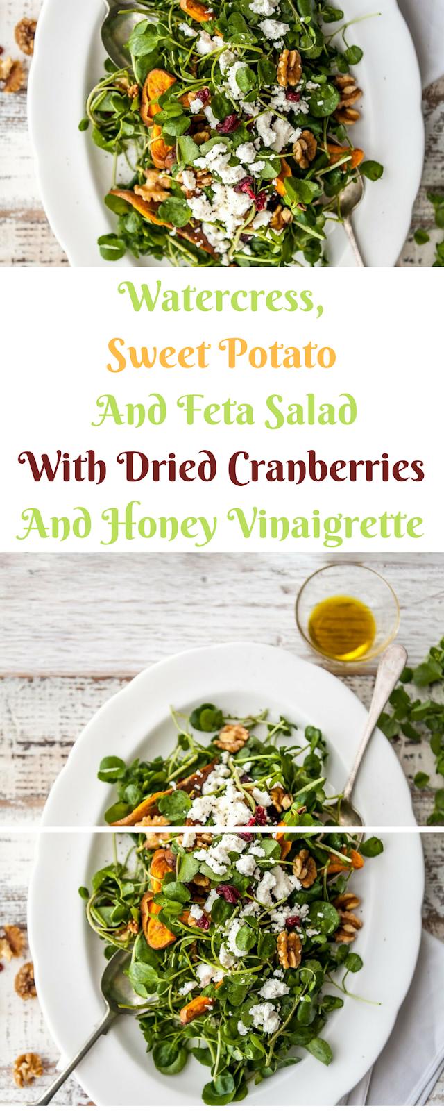 Watercress, Sweet Potato And Feta Salad