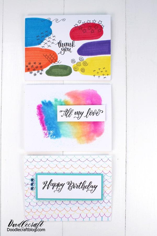 How to make Handmade card three easy ways!