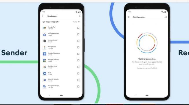 Izinkan aplikasi untuk dibagikan dan pembaruan pada perangkat terdekat di Google Play Store