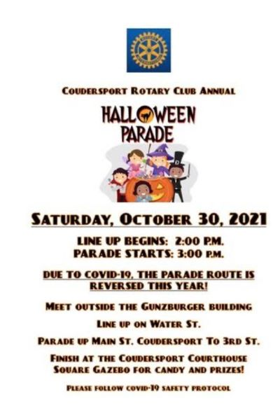 10-30 Coudersport Rotary Halloween Parade