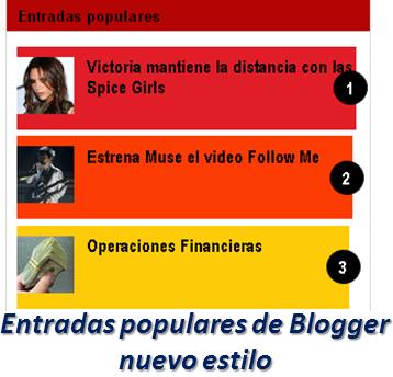 Entradas populares de Blogger nuevo estilo