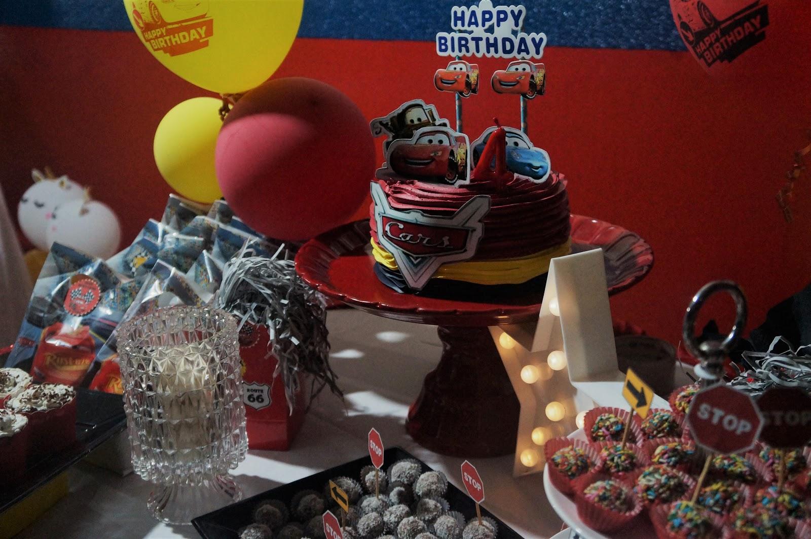 Festa de Aniversário 4 anos com tema Carros Disney