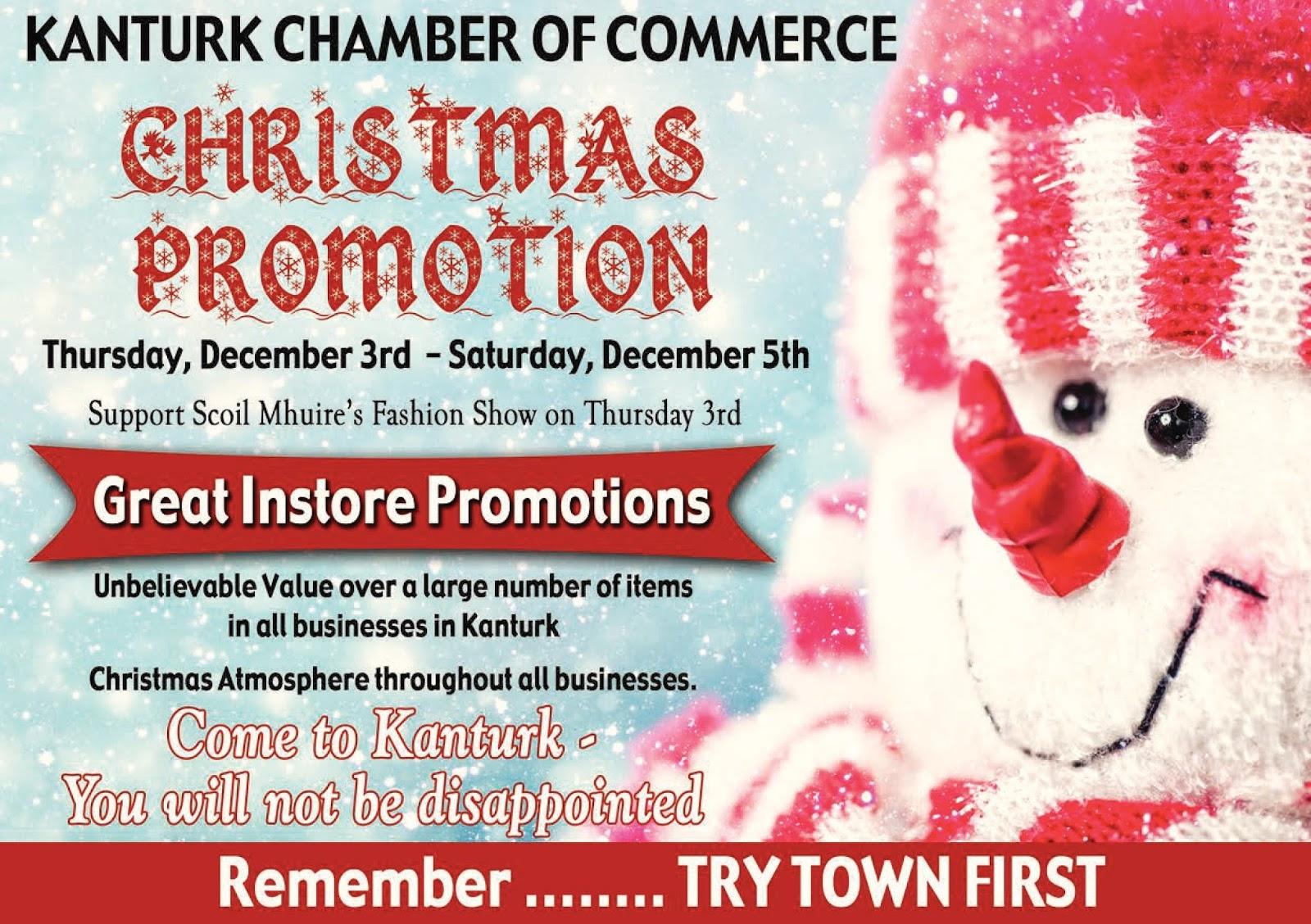 abbb77c21e8e2 Kanturk Chamber of Commerce: Christmas 'Try Town First' Shopping ...