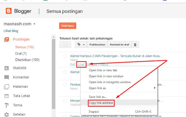 cara membuat url website
