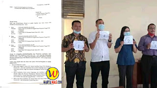 Surat keberatan dan calon saat cabut nomor