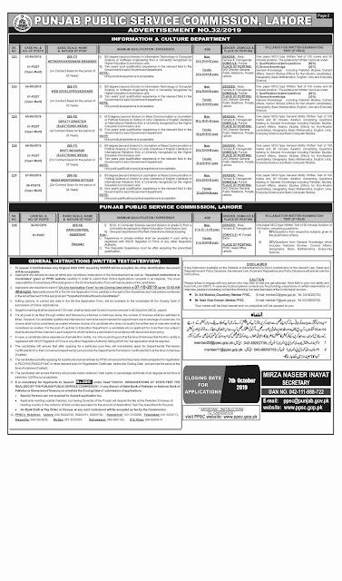 Punjab Public Service Commission Jobs All Departments 2019