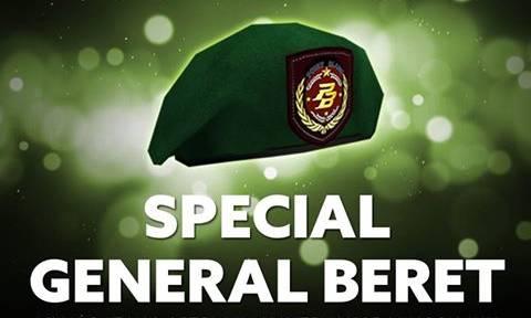 Cara Mendapatkan Beret Hijau / General Beret PB Garena