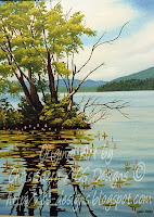 Chris Stern BC Canada, Canadian Artist Deka Lake bc Oil Painting