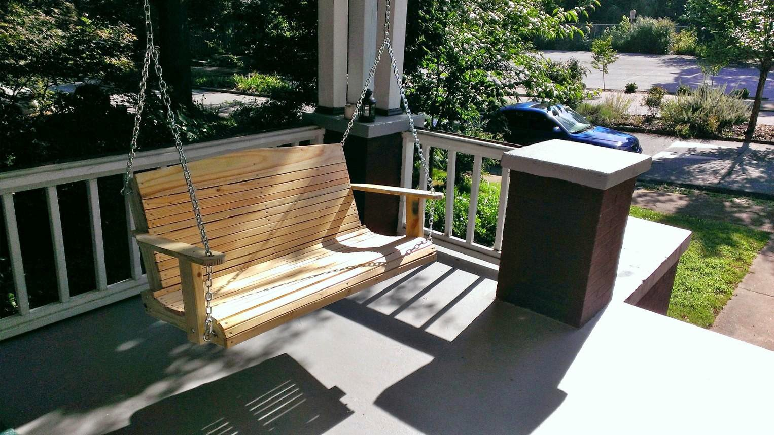 cozy swings 4 39 ft wooden porch swings for sale. Black Bedroom Furniture Sets. Home Design Ideas