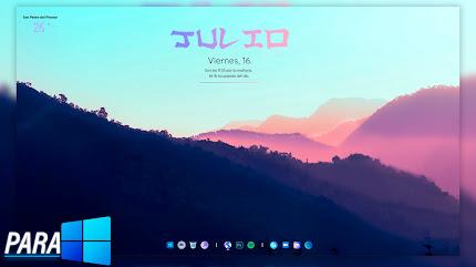 ESCRITORIO RELAJANTE   Tema para Windows 11