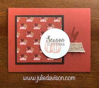 Stampin' Up! Gather Together Card ~ Autumn ~ Thanksgiving ~ 2019 Holiday Catalog ~ www.juliedavison.com